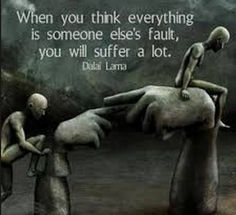 Narcissist never accept responsibility for anything, It is always someone elses fault no matter what!!