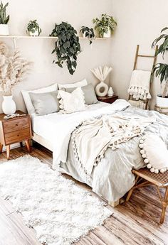 30 Absolutely Gorgeous Bedroom Ideas That Will Blow Your Mind – BuzzKee Cute Bedroom Ideas, Room Ideas Bedroom, Home Decor Bedroom, Bedroom Inspo, Boho Teen Bedroom, Decor Room, Bohemian Bedroom Design, Simple Bedroom Decor, Wall Decor