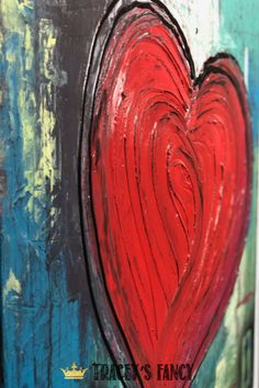 Learn how to paint this Textured Heart on Canvas with an impasto style finish in Tracey's Fancy workshop . see more of her heart art as inspiration Canvas Painting Tutorials, Diy Canvas Art, Diy Wall Art, Diy Painting, Painting Canvas, Create Your Own Canvas, Valentine Crafts, Valentines, Heart Painting