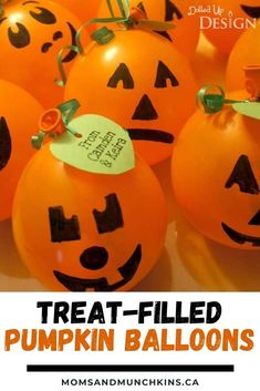 Looking for the perfect party favor for your Halloween Party? Make these Treat-Filled Pumpkin Balloons! These balloons are super cute and easy to make! Fun to make with the kids. I filled mine with wrapped candy, but you could fill yours with candy corn or whatever you like! I made of some these to give to trick-or-treaters too and they were a hit! Give them a try! DIY Party Favors. Halloween party favors. Treat-Filled Pumpkin Balloons Halloween Treats For Kids, Halloween Party Favors, Halloween Celebration, Halloween 2020, Holidays Halloween, Halloween Ideas, Party Favors For Adults, Kid Party Favors, Diy Party