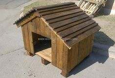 recycled pallets dog house diy