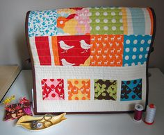 Oh Deer! Sewing Machine Cover Tutorial made wtih charm squares by @Jenelle Isaacson Isaacson Clark at Echinop & Aster