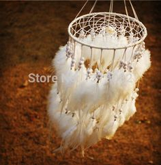2015 New fashion originality Hot white Feather pearl Dreamcatcher Wind Chimes Indian Style Pendant Dream Catcher Gift-in Wicker Crafts from Home & Garden on Aliexpress.com | Alibaba Group
