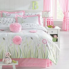 WHOLE HOME KIDS(TM/MC) 'Butterfly Garden' Comforter Set - Sears...I'd luv this for myself...very feminine!