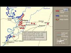 CAMPAIGN OF VICKSBURG ANIMATION ON A MAP