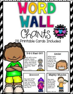 Word Walls are meant to be USED! Your students will LOVE doing these FUN and EDUCATIONAL chants! This will boost their spelling confidence! Included in this product:-Directions-Personal Experience and Success with Word Wall Chants-28 chants with brief description and picture(There are two chants on one page)Happy Spelling!!! :)Customer Tips:How to get TPT credit to use on future purchases: Please go to your My Purchases page.