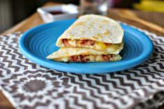 Barbecue Bacon and Pineapple Quesadilla