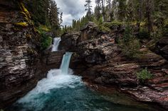 St. Mary's Falls in Glacier National Park
