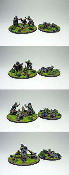 Fallschirmajger 6th Reg - Medium Mortar & MMG teams