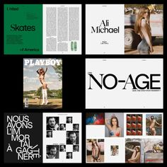 """worldwide-ex: """"Playboy France gets a revamp w new design & direction courtesy of Paris based RÉPUBLIQUE STUDIO. Check out the summer issue above! Typography Layout, Typography Poster, Graphic Design Typography, Page Layout Design, Graphisches Design, Print Design, Editorial Layout, Editorial Design, Playboy"""
