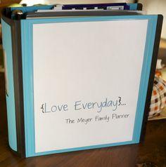 love everyday: Tutorial Thursday: Family Planner