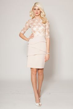 Find the perfect Teri Jon cocktail dresses and evening gowns for the mother of the bride. Try our lace dresses, tea length dresses, dresses with sleeves, and other styles to feel like the young and beautiful mother of the bride that you are. Blush Cocktail Dress, Cocktail Dresses With Sleeves, Elegant Cocktail Dress, Champagne Dress, Cocktail Wear, Mob Dresses, Tea Length Dresses, Bride Dresses, Wedding Dresses