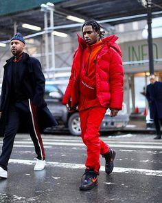 4c062f93943b #ASAPRocky @asaprocky wears a #Balenciaga jacket, fanny pack, #Nike x
