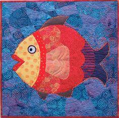 Fish applique block