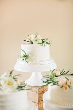 White Buttercream Garden-Inspired Cake