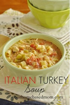 Italian Turkey Soup Ingredients ½ box pasta, I used Ditalini or a short macaroni type pasta 2 C shredded turkey or chicken . Soup Recipes, Dinner Recipes, Cooking Recipes, Healthy Recipes, Cooking 101, Fast Recipes, Sausage Recipes, Cookbook Recipes, Leftover Turkey Recipes