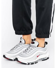 wholesale dealer b7944 cb95c Shop Nike Air Max 97 Silver Bullet Trainers at ASOS.