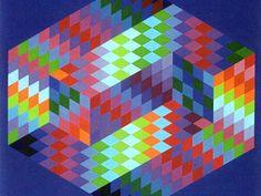 L'op art. À partir des années 1960, les peintres jouent sur les formes géométriques et les illusions d'optique : c'est l'optical art. Ce mouvement est représenté par Kandisky, Victor Vasarely et son fils Yvaral ainsi que Horacio Garcia Rossi, François Morellet, Francisco Sobrino et John Stein.