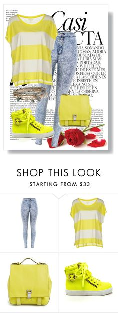 """""""Yellow outfit :))"""" by eldinaaa-t ❤ liked on Polyvore featuring Majestic, Proenza Schouler, Aéropostale, Whiteley, women's clothing, women, female, woman, misses and juniors"""