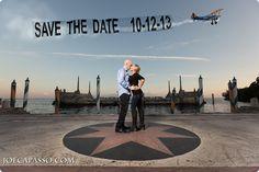 Save the date - Miami Wedding Photographers - Vizcaya Weddings in Miami.  Taryn & Josh's Save the date with a banner plane.   Joe Capasso Photography.  Joe Capasso Photography is a wedding photographer in Naples, Miami, Philadelphia & Worldwide.  http://joecapasso.com