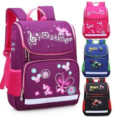Butterfly School Orthopedic Backpacks with Reflective Strip School Bags for Girls Children Kids Backpack Bag Mochila Escolar Cheap School Bags, School Bags For Girls, Girls Bags, Boys Backpacks, School Backpacks, Pink Bookbag, China Suppliers, Backpack Brands, Waterproof Backpack