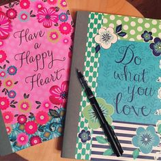 These notebooks... I use them every day they are my lifeline they go everywhere with me they are filled with my passions as a Coach. Have a happy Heart- I use this one to write down the names of those whose lives I'm impacting this year the people I reach out to daily to get started on a journey to a healthier life... I want to overflow this book in 2017 and have to buy 5 more!  Do what you Love- this one I use to write all my notes from trainings webinars tips from leaders things I need to…