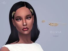 This super delicate and extremely magical headband is made to bring out the goddess in you. Warn from the back, it has 2 branches of olive leaves, one on each side. Found in TSR Category 'Sims 4...