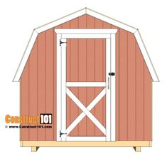 shed plans - small barn - door hinges. Wood Shed Plans, Diy Shed Plans, Storage Shed Plans, Barn Plans, 12x8 Shed, Barn Door Hinges, Barn Doors, Corner Sheds, Gambrel Barn