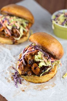 Grilled Barbecue Pulled Chicken Sandwiches with Coleslaw