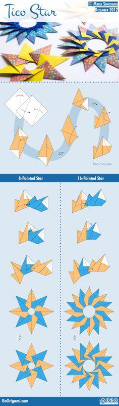 Оригами для начинающих – звезда из бумаги «  At5.ru