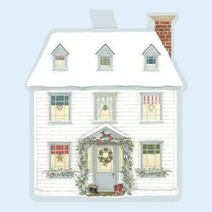 Christmas » Christmas House Gift Tags  - Sally Swannell