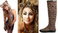 leopard kostüm frauen inspiration schminke zubehör schnell