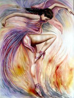 Yağlı Boya Tango, Dans, Balerin Tabloları, Yağlıboya Tablo Resimler