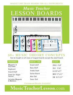 Music Teacher Lesson - magnet boards
