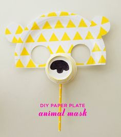 DIY Paper Plate Animal Mask