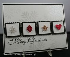 Merry Minis glitter card