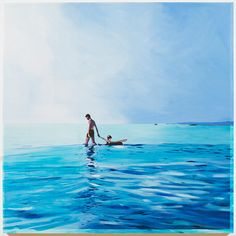 Isca Greenfield-Sanders – Isca Greenfield-Sanders is an American landscape painter known for her oil paintings and watercolors, based on found photography. Beach House Decor, Oil Paintings, Contemporary Artists, Hanging Out, Watercolors, Swimming Pools, Mixed Media, Artsy, Waves