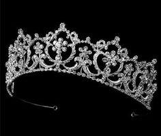 Wedding Crown Bridal Tiara Crystal Rhinestone 298. Royal Princess Tiara