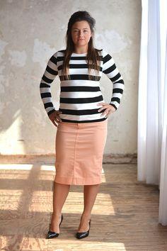 Peach Colored Denim Skirt - Jade Mackenzie Modest Apparel