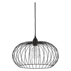 The Esme black metal wire globe ceiling light shade has a distinctive sea urchin shape that is perfect for use with a feature bulb.[br]The shade provides a strong focal point for a room and casts interesting shadows when the light is turned on. [br]Easy-to-fit, this shade can be used with your existing light pendant, with no extra electrical attachment required.
