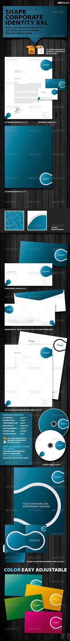 Shape Corporate Identity XXL #graphicriver