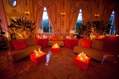 Wedding reception lounge at the Mar a Lago Club in Palm Beach  | Photo: Sara Kauss Photography