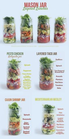 Healthy Food Friday: Spinach {Mason Jar Layered Lunches} (Lexi's Clean Kitchen) #healthy #lunch #paleo #paleolunch