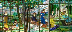 """Conjunt de vitralls modernistes """"Les Dames de Cerdanyola"""" al MAC (Museu d'Art de Cerdanyola)"""