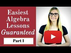 Algebra - Basic Algebra Lessons for Beginners / Dummies - Pass any Math Test Easily Algebra Help, Algebra Lessons, Algebra 1, Algebra Cheat Sheet, Math Test, Common Core Math, Math Classroom, Maths, Word Problems