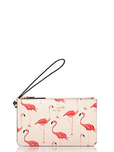 Kate Spade Cedar Street Flamingos Slim Bee Shell Pink ONE from kate spade new york. Kate Spade Wallet, Kate Spade Bag, Kate Spade Cedar Street, Handbags Online, Pink Flamingos, Beautiful Bags, Tote Bag, Wallets For Women, Purses And Bags