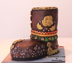 CPC Shoes Collaboration - Hippie boot by Super Fun Cakes & More