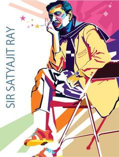 Wedha's Pop Art Portrait of Satyajit Ray