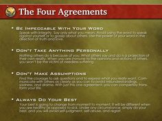 The Four Agreements – A Practical Guide to Personal Freedom