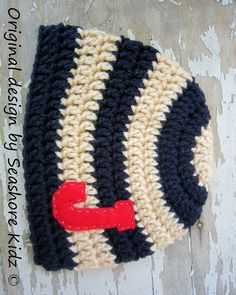 NEED THIS! It's even the correct initial! Baby Boy Hat  Baby Boy Hats  Crochet baby boy hats by SeashoreKidz, $18.95